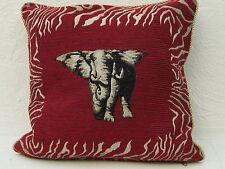 Kissenhülle:Gobelin;Reißverschluss+Kordeleinfassung;ca.40cmx40cm;Motiv Elefant