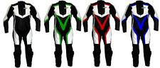 Tuta per moto racing da pista in pelle intera con gobba 52 54 56 58 M L XL 2XL