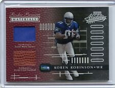 2001 ABSOLUTE #171 KOREN ROBINSON JERSEY/BALL ROOKIE RC #772/850 - SEAHAWKS