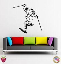 Wall Stickers Vinyl Ski Winter Extreme Sport Olympic Games (z1666)