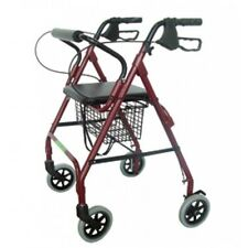 Making Life Easy With Care Economy Burgundy Rollator w/ Basket & Loop Brakes