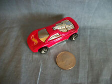 Vintage 1990 Hot Wheels Mattel Red Race Car Made in Malaysia