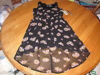 O'Neill Juniors Womens S small black floral Dress 0035 surf sk8 NEW NWT 42.50 ^^