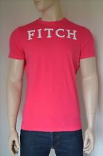 NEW Abercrombie & Fitch Classic Logo Applique Graphic Pink Tee T-Shirt XL