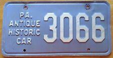 Pennsylvania 1960's ANTIQUE HISTORIC CAR License Plate # 3066