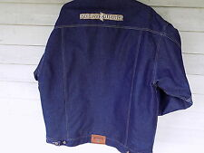 EUC  Rocawear Jean Denim Jacket Mens XXL  nylon quilt lining, Hip Length, 2006
