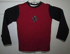 Ferrari Prancing Horse Licensed Big Boy Long Sleeve Tee Shirt Red Wine Small NWT