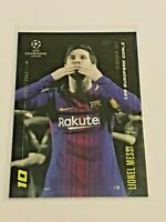 2020 Topps Champions League Soccer By Messi - Lionel Messi - 100 European Goals