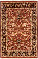 """4'0"""" x 6'0"""" Hand-Knotted Carpet Traditional Oriental Wool Area Rug"""