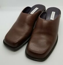 CALICO Slide Slip on Mule Shoes Women Brown Comfort Leather Heel Pump Sz 8.5 M