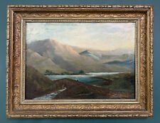 Antique Victorian Scottish Oil On Canvas Painting In Gold Gilt Frame
