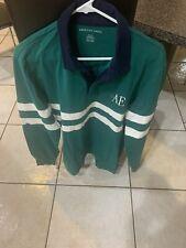 NWT American Eagle Men's Shirt Size Med Green Long Sleeve Logo Top