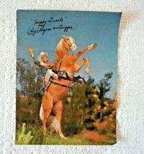 Vtg ROY ROGERS & TRIGGER Happy Trails Printed Signature Original Photo Poster