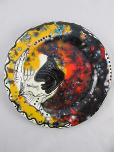 Vicente Dopico Lerner Ceramic Plate Cuban American Artist Art Charger Signed
