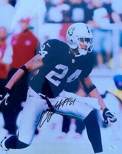 Charles Woodson Signed Oakland Raiders 16x20 Photo JSA