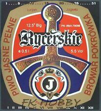 Poland Brewery Pokrówka Jagiełło Rycerskie Beer Label Bieretikett Cerveza pk11.2