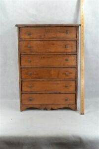 period drawers chest sm 24 x 16 x 8 pine natural shaped base 19th c original