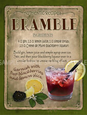 BRAMBLE  COCKTAIL RECIPE METAL SIGN HOME BAR:PUB:BAR:CAFE LOVELY GIFT