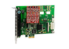 OpenVox A810E01 8 Port Analog PCI-E card base board + 0 FXS400 + 1 FXO400