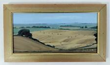 HAY BALES IN LANDSCAPE NEAR STONEHENGE Oil Painting On Canvas SUSAN R. BELL 1998