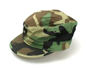 NEW GENUINE US ARMY BDU PATROL CAP HAT WOODLAND CAMO RIPSTOP MADE IN USA
