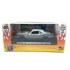 M2 Machines Auto-Drivers 1971 71 Plymouth Hemi Cuda Car Gray Die Cast 1/64 Scale