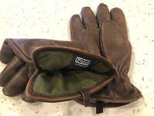 Men's Polo Ralph Lauren Deerskin Leather Gloves Driving Brown Large