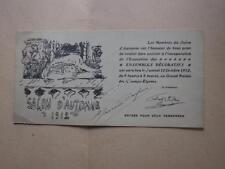 1912.Invitation vernissage salon d'automne (Pierre Bonnard).