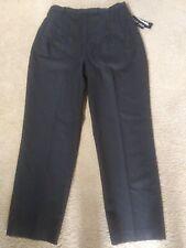 NWT LARRY LEVINE SPORT Size 14 Dress Pants Black Lined High Waist Wool Pants $80