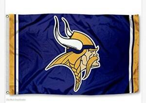 3X5 Flag Man Cave Flag 3 x 5 Banner Viking Football New USA Minnesota Vikings