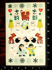 CHRISTMAS WINTER STICKERS BY DARICE - ONE SHEET OF BEAUTIFUL STICKERS - #GDL784