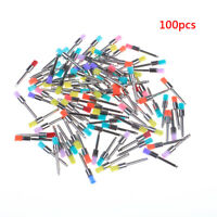 100Pcs Dental Multi-Color Flat Bowl Buffing Polisher Prophy Cup Bolt Brush.BB