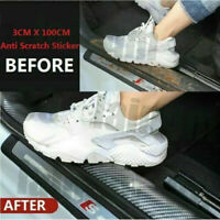 Auto Car Accessories Carbon Fiber Door Plate Cover Anti Scratch Sticker US STOCK