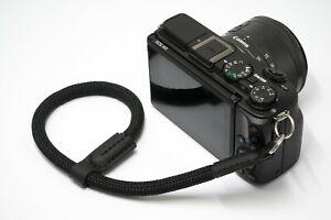 Black Rope Wrist Camera Strap for DSLR, Canon, Nikon, Film by NEVETdesigns