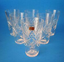 Vintage HTF Kosta Boda Sweden Crystal Helga Pattern Cordial Glasses Set Of 6