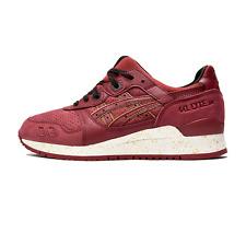New Asics Men GEL-LYTE III Runner Shoe H630L 2626 Burgundy Red Gold Rush Sz 9.5
