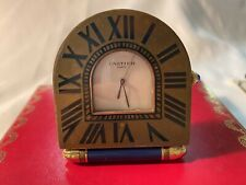 Vintage Cartier Travel Desk Clock Lapis Lazuli Box Pouch Papers