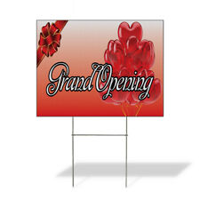 Weatherproof Yard Sign Grand Opening Business E Red Lawn Garden