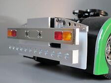 Custom Aluminum Rear T-bar Bumper Guard w LED hole Tamiya 1/14 Semi King Hauler