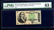 1869 50 CENT FRACTIONAL CURRENCY FOURTH SERIES PMG 63 NET PLEASE  LQQK!*