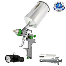 Pro 2.0mm HVLP Gravity Feed SPRAY GUN Air Regulator Auto Paint Primer Prime Car