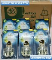 6x Air Wick Freshener,Plug-in, Linen in the air, Refill 17ml