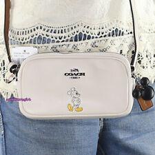 NWT Coach Disney Mickey Leather Small Swingpack Crossbody Bag 56268B Chalk White