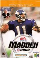 Madden 2002 - Authentic Nintendo 64 (N64) Manual