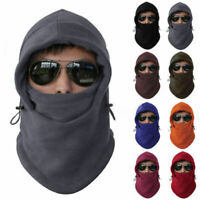 Mens Women Fleece Balaclava Hat Motorcycle Neck Face Mask Hooded Snow Ski Cap