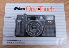 Genuine Nikon One Touch Film Camera Instruction Manual / Booklet Only *Read*