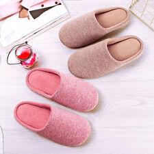 Women Anti-slip Plush Fleece Slippers Winter Warm Indoor Home Soft Shoes