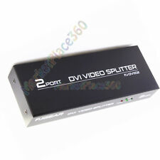 HD 1x2 Port DVI 24+5 Splitter Video 3D 1080p Box Mirror LED Screen 1 to 2