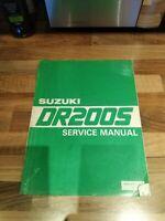 Suzuki DR200s 86-88 Genuine English Full Dealership workshop manual