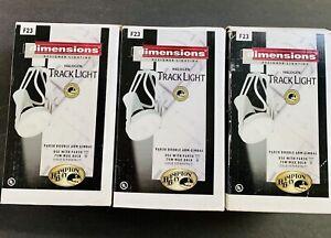 Track Light Heads Hampton Bay Halogen Retro 374-275 White Lot / Pack of 3